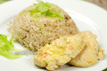 Курица в лимонном соусе