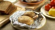Фото рецепта Картошка с салом запечённая в фольге