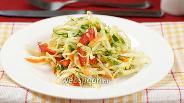 Фото рецепта Салат из капусты и болгарского перца