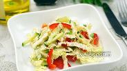 Фото рецепта Салат из пекинской капусты и огурца