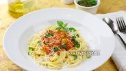 Фото рецепта Спагетти с помидорами и базиликом