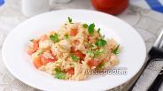 Фото рецепта Салат с курицей и рисом