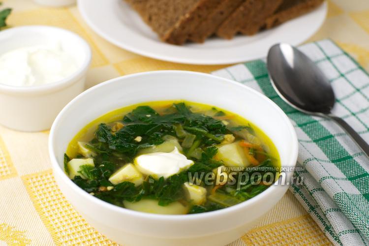 Рецепт Зелёный борщ с крапивой