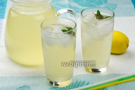 Фото рецепта Домашний лимонад с мятой