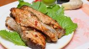 Фото рецепта Сёмга стейк на мангале