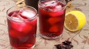 Фото рецепта Чай каркаде с имбирём