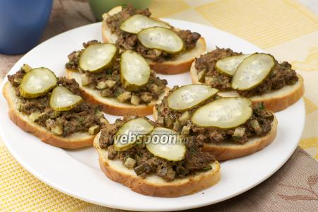 Бутерброды с куриной печенью