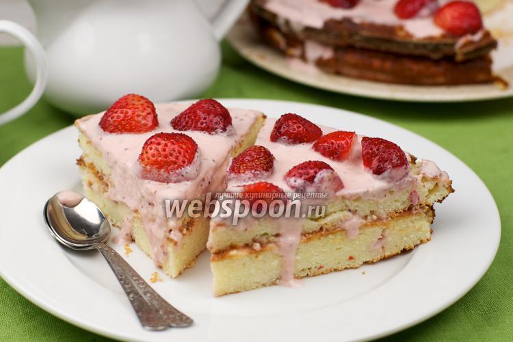 творожный торт с клубникой рецепт с фото без выпечки