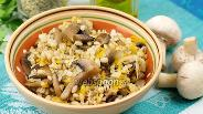 Фото рецепта Перловая каша с грибами