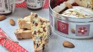 Фото рецепта Бискотти с изюмом и клюквой