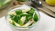 Фото рецепта Салат с яблоком и шпинатом