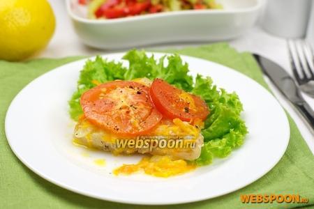 Филе хека запечённое с овощами