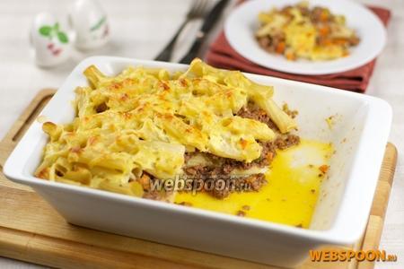 Фото рецепта Запеканка из макарон с фаршем