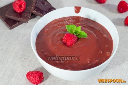 Шоколадная паста с малиной