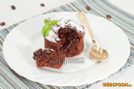 Фото рецепта Шоколадный фондан