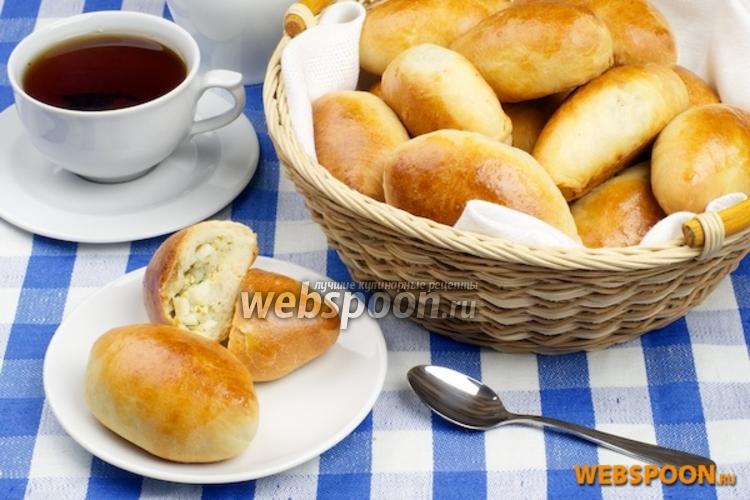 Фото Пирожки с рисом и яйцом печёные