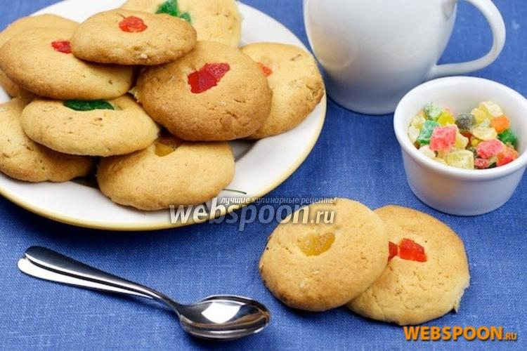 Фото Печенье с цукатами