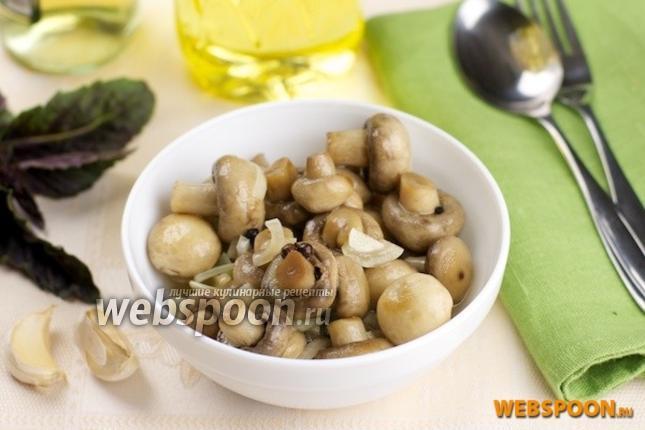 Фото Маринованные грибы шампиньоны