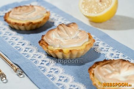 Тарталетки с лимонным кремом и меренгой