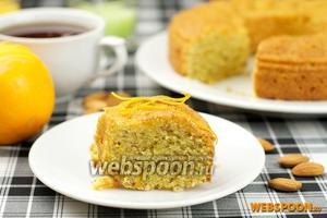 Апельсиновый кекс из кукурузной муки
