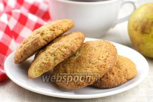 Песочное печенье с грушей