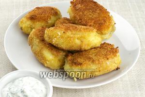 Подавать картофельные зразы горячими с сметанным соусом. Зары получаются ну очень вкусными и сытными.