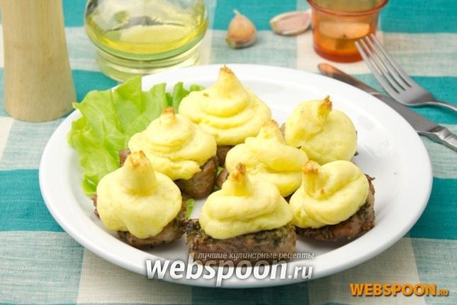 Фото Свиные отбивные запечённые с картофельным пюре