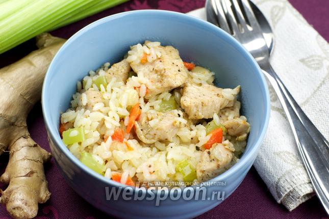 Фото Индейка с рисом и овощами