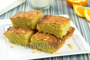Пирог из кукурузной муки с миндалем