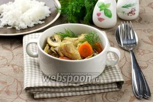 Индейка с овощами и карри
