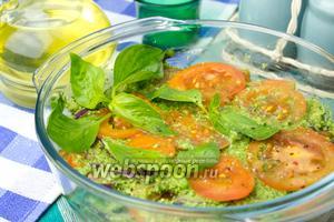 Помидоры под зелёным соусом