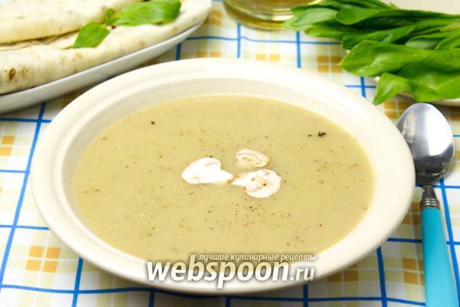 Фото Крем-суп из шампиньонов постный