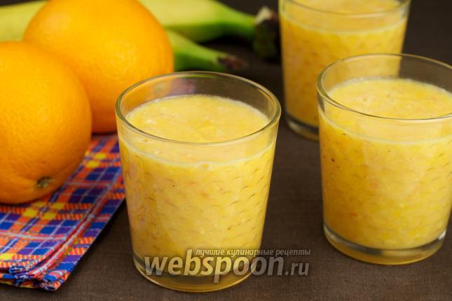 Фото Смузи из апельсинов и банана