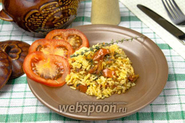 Фото Пряный рис в горшочках