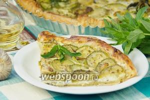Тарт с кабачками, фетой и зеленью
