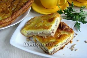 Открытый пирог с сайрой и картофелем