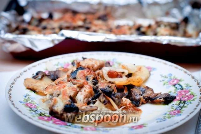 Фото Мясо с картошкой и грибами