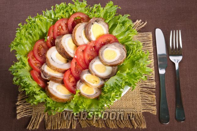 Фото Мясной рулет с яйцами
