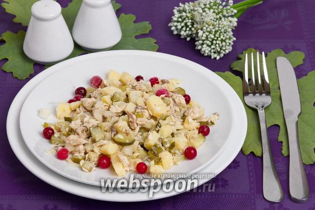 Фото Диетический салат с тунцом
