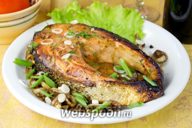 Фото Жареный лосось в соевом соусе