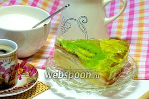 Торт с желе и фруктами