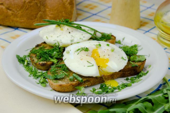 Фото Яйца-пашот с тостами