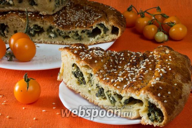 Фото Пирог со шпинатом и сыром