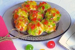 Творожные шарики в леденцовой карамели
