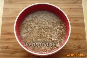 Перловую крупу нужно замочить в воде за 12 часов до приготовления супа.