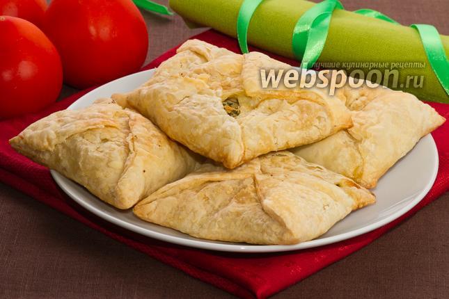 Фото Хачапури из слоёного теста с сыром