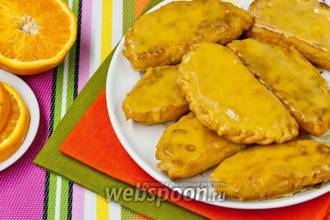 Фото Самоса с творогом и апельсином