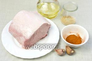 Для таких стейков понадобятся: свинина на кости, чеснок, коричневый сахар, паприка, красный перец молотый, соль, оливковое масло.