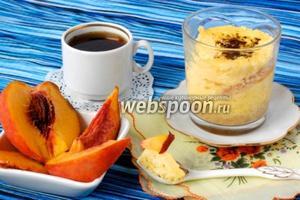 Персиковый чизкейк в микроволновке