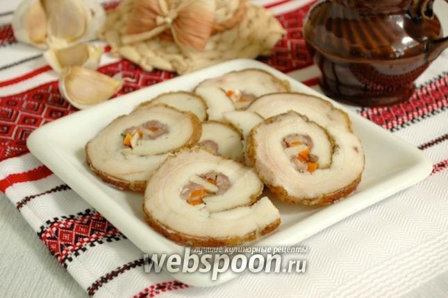 рецепты варёный рулет из сала